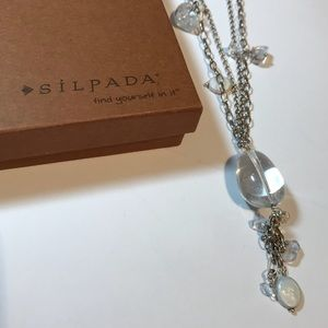 SILPADA Sterling Silver Crystal Pearl Necklace